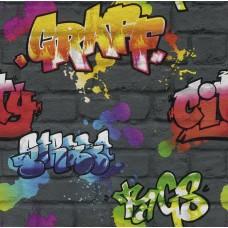 Kids & Teens 2 237801 Graffiti Desenli Duvar Kağıdı