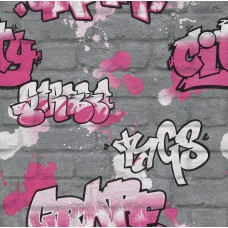 Kids & Teens 2 237818 İthal Graffiti Görünümlü Duvar Kağıdı