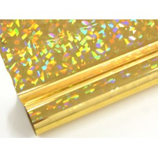 Kointec P502 Parlak Sarı Hologram Kendinden Yapışkanlı Folyo
