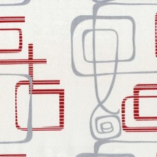 Nadia 9716-3 Kırmızı Geometrik Şekilli Duvar Kağıdı