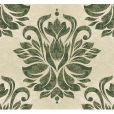 New Selection 305-1 Yeşil Damask Desenli Duvar Kağıdı