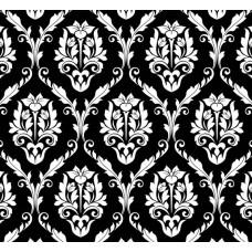 New Selection 308-3 Siyah Damask Desenli Duvar Kağıdı