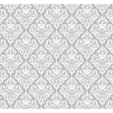 New Selection 309-3 Gri Damask Desenli Duvar Kağıdı