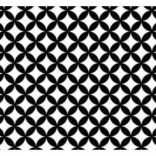 New Selection 319-1 Siyah Beyaz Halka Desenli Duvar Kağıdı