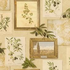 Tiles & More XIV 307214 Zeytin Dalı Görünümlü Duvar Kağıdı