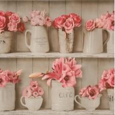 Tiles & More XIV 307719 Çiçek Desenli İthal Duvar Kağıdı