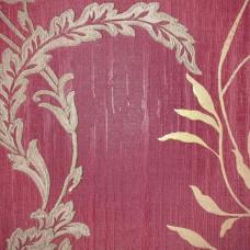 Scarlet 1629 Bordo Çiçek Desenli Duvar Kağıdı