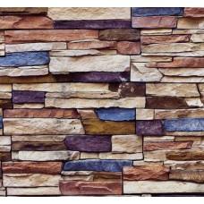 Stone And Wood 6017 Renkli Taş Görünümlü Duvar Kağıdı