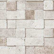 Stone Gallery 85022-1 Kare Taş Görünümlü Duvar Kağıdı