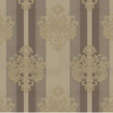 Truva 8601-3 Kahve Damask Desenli Duvar Kağıdı