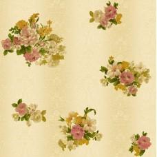 Truva 8603-2 Vinil Çiçek Desenli Duvar Kağıdı