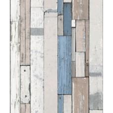 Faux Semblant L10401 Mavi Tahta Desenli Duvar Kağıdı