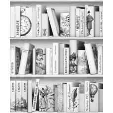 Faux Semblant L10507 Kitaplık Desenli Genç Odası Duvar Kağıdı