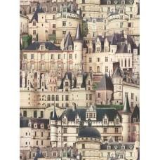 Kaleidoscope J80501 Tarihi Binalar Pop Art Duvar Kağıdı
