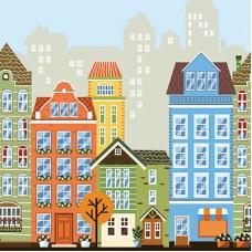 Ada Kids 8903-1 Ev Görünümlü Çocuk Odası Duvar Kağıdı