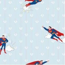 Ada Kids 8915-2 Lisanlı Superman Çocuk Odası Duvar Kağıdı