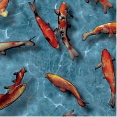 Alkor 280-0003 Japon Balığı Desen Kendinden Yapışkanlı Folyo