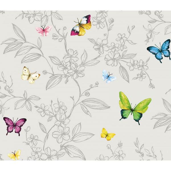 Anka 1606-4 Kelebek Desenli Genç Odası Duvar Kağıdı