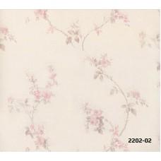 Bossini 2202-02 Non Woven Çiçekli Duvar Kağıdı