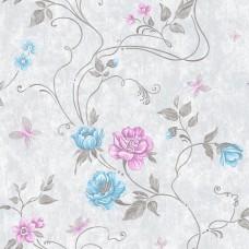 Classic 330-B Pembe Gül Desenli Duvar Kağıdı