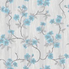 Classic 334-A Mavi Çiçekli Duvar Kağıdı