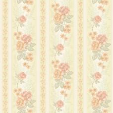 Classic 345-A Çiçek Desenli Vintage Duvar Kağıdı