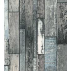 Deco Stone 9001-04 Mavi Tahta Görünümlü Duvar Kağıdı