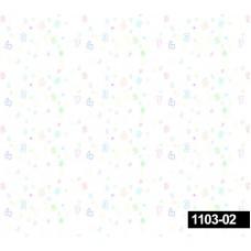 Decokids 1103-02 Renkli Rakamlar Çocuk Odası Duvar Kağıdı