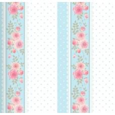 Floral Collection 5031 Çiçekli Çizgili Duvar Kağıdı