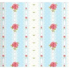 Floral Collection 5033 Çizgili Gül Desen Duvar Kağıdı