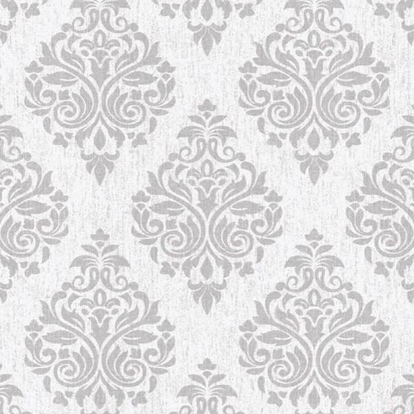 Four Seasons 437051 Gri Damask Desenli Duvar Kağıdı