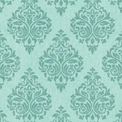 Four Seasons 437052 Yeşil Damask Model Duvar Kağıdı