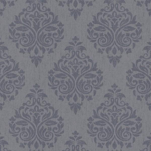 Four Seasons 437054 Füme Damask Desenli Duvar Kağıdı