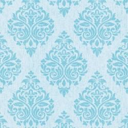 Four Seasons 437056 Mavi Damask Desenli Duvar Kağıdı