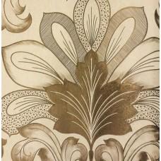 Genesis 710-7 Kahverengi Damask Desenli Duvar Kağıdı