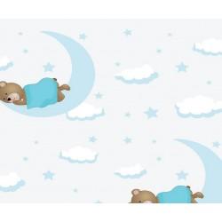 Grown Baby 105-2 Ayıcık Desenli Bebek Odası Duvar Kağıdı