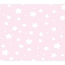 Grown Baby 106-1 Pembe Yıldız Desenli Duvar Kağıdı