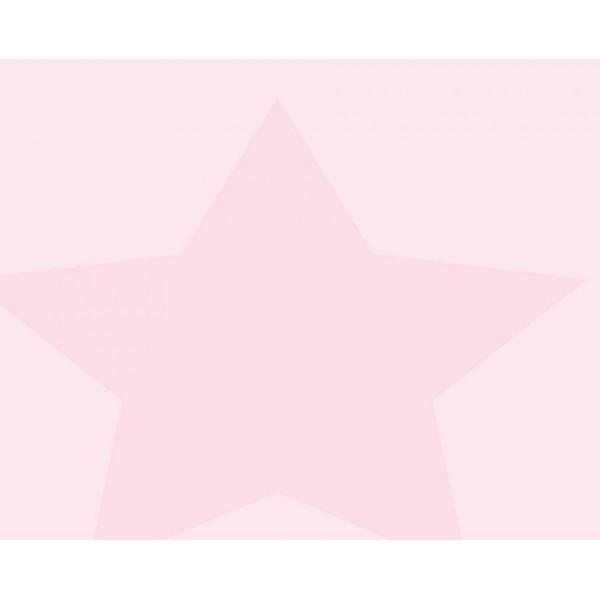 Grown Baby 107-1 Pembe Büyük Yıldızlı Duvar Kağıdı