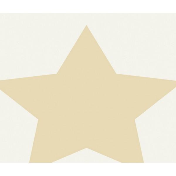Grown Baby 107-3 Büyük Yıldız Desenli Duvar Kağıdı