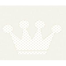 Grown Baby 109-3 Taç Desen Bebek Odası Duvar Kağıdı