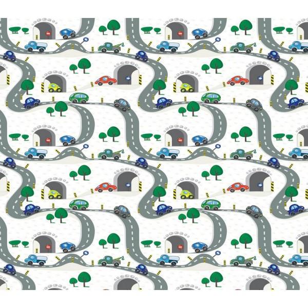 Grown Baby 131-1 Araba Desenli Duvar Kağıdı