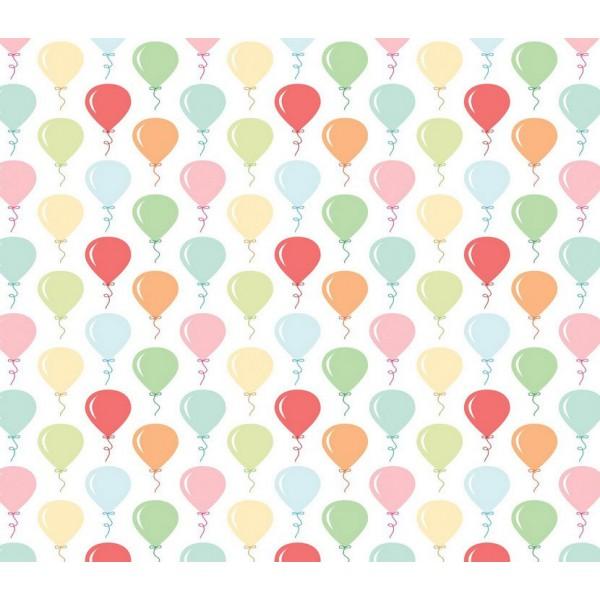 Grown Baby 146-1 Renkli Balon Desenli Duvar Kağıdı