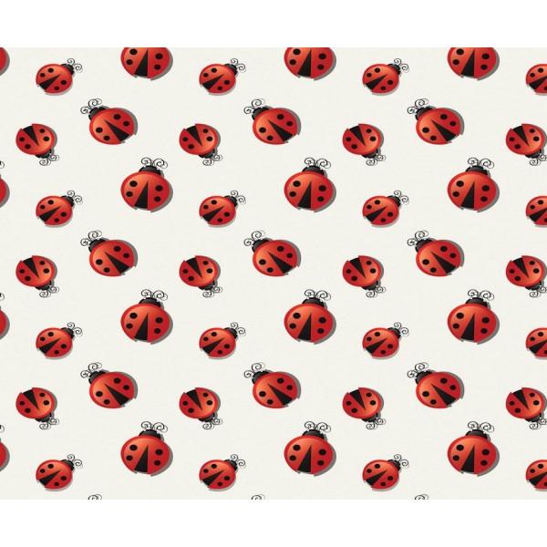 Grown Baby 148-1 Uğur Böceği Desen Duvar Kağıdı