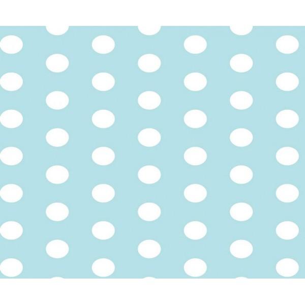 Grown Baby 152-5 Mavi Puantiyeli Duvar Kağıdı
