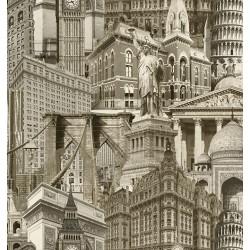 İndigo 4705-1 Mimari Desen Duvar Kağıdı