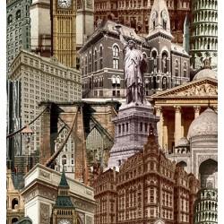 İndigo 4705-3 Şehir Temalı Duvar Kağıdı