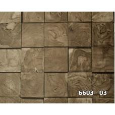 Lamos 6603-03 Damarlı Ahşap Desenli Duvar Kağıdı