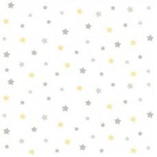 Lindo 240819 Sarı Gri Yıldız Desenli Duvar Kağıdı