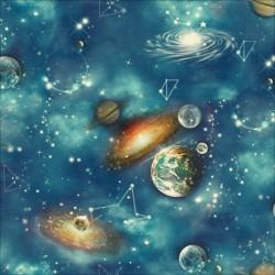 New Art 1009-A Gezegenler Görünümlü Duvar Kağıdı
