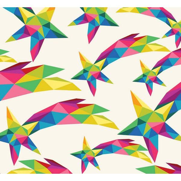 New Selection 336-1 Rengarenk Yıldız Desenli Duvar Kağıdı